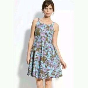 Taylor Floral Bengaline Cotton Silk Fit & Flare